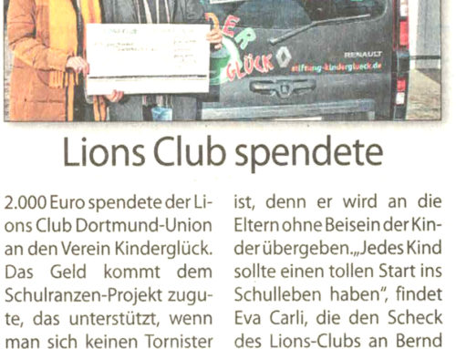 Lions Club spendete