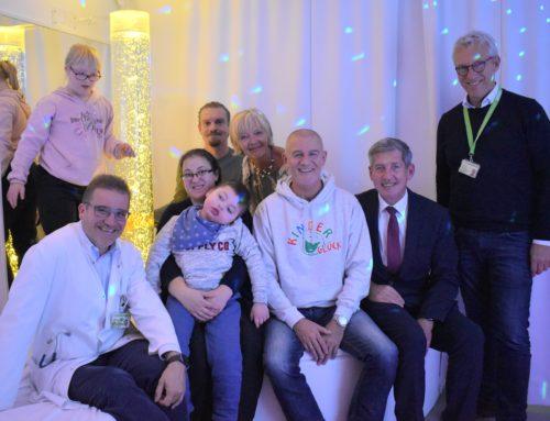 Der neue Kinderglück-Snoezelenraum im Westfälischen Kinderzentrum ist offiziell eröffnet