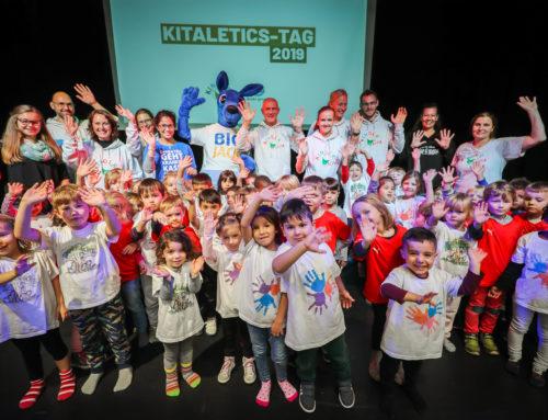60 Kitakinder erobern beim KiTaleticstag die Kinderglück-Halle