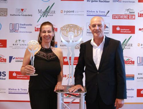 Susanne und Bernd Krispin erhalten den Stifterpreis UNion auf der Kreissportbund Unna-Gala