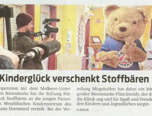 Kinderglück verschenkt Stoffbären