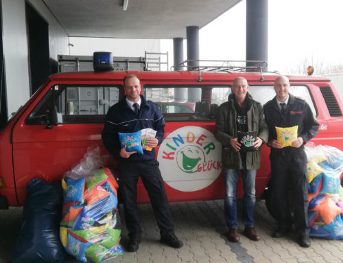 Kinderglück-Kissen nun auch auf Rettungswagen in Lünen