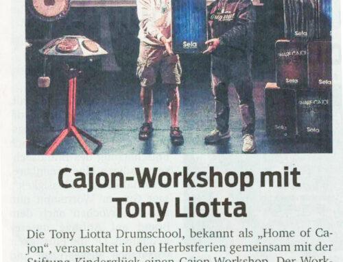 Cajon Workshop mit Tony Liotta