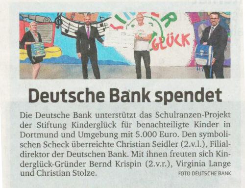 Deutsche Bank spendet an Kinderglück