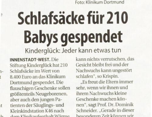 Schlafsäcke für 210 Babys gespendet