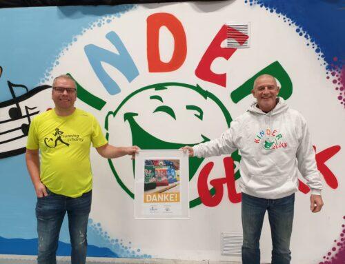 running4charity e.V. spendet 12.299,48 € an die Stiftung Kinderglück