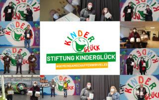 Stiftung Kinderglück verteilt FFP2 Masken